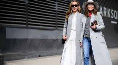 'С чем носить серое пальто? 5 модных образов