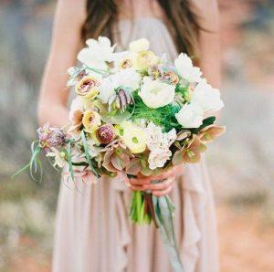 растрепанные свадебные букеты