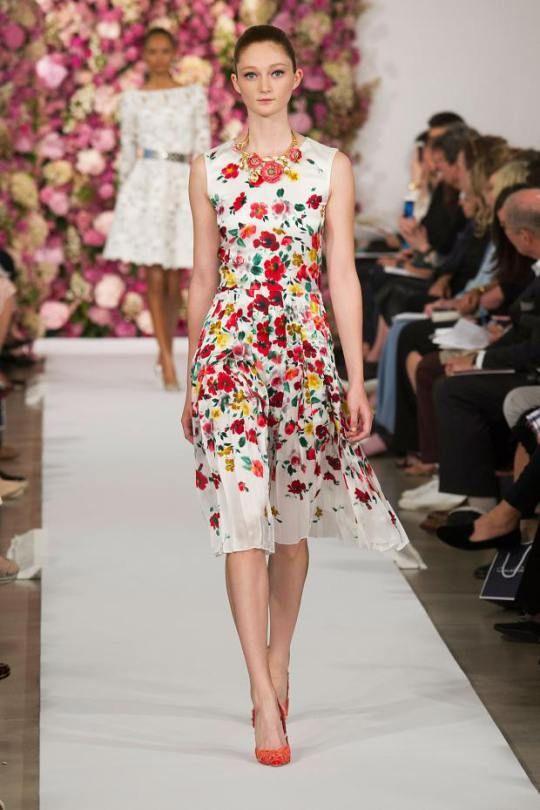 Модные платья 2015: цветы