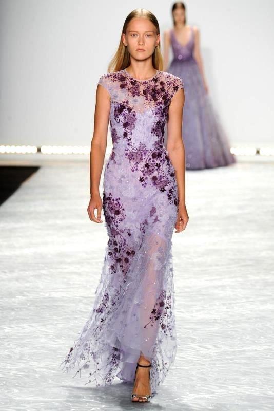 Модные платья 2015: фиолетовый