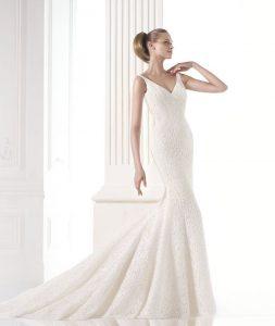 Свадебные платья S-образный силуэт