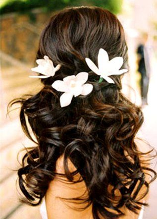 Гавайская свадебная прическа