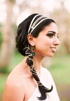 Греческая свадебная прическа