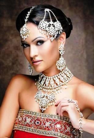 Индийская свадебная прическа