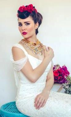 Испанская свадебная прическа