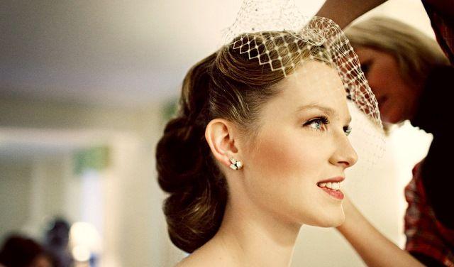 свадебные прически в стиле ретро фото 2012