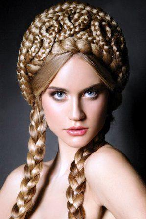 Свадебная прическа в русском стиле