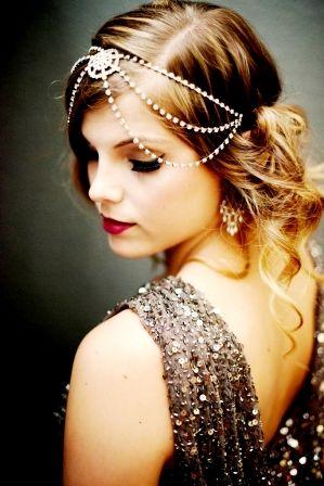 Свадебная винтажная прическа на средние волосы