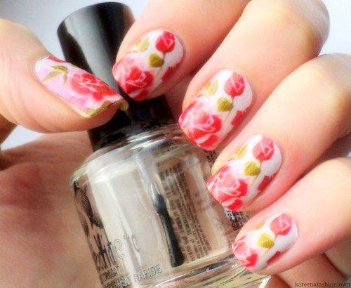 Модный маникюр 2015: цветы