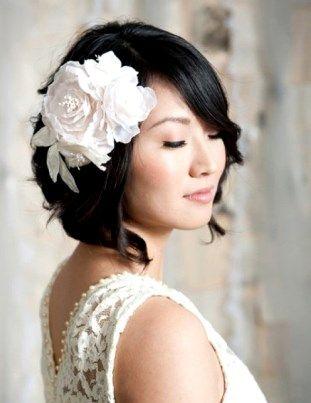 Японская свадебная прическа