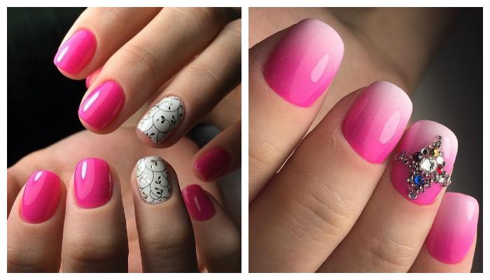 Маникюр весна 2017: розовый