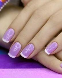 Фиолетовый маникюр сочетание цветов