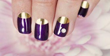 Стильный фиолетовый маникюр