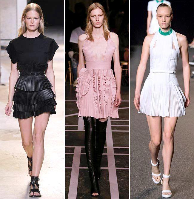 Модные тенденции (тренды) весна / лето 2015: плиссе