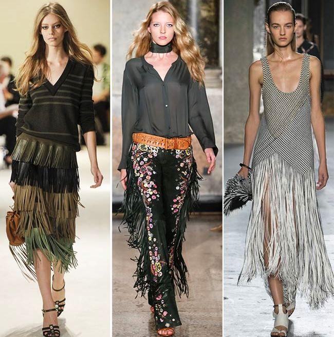 Модные тенденции (тренды) весна / лето 2015: бахрома