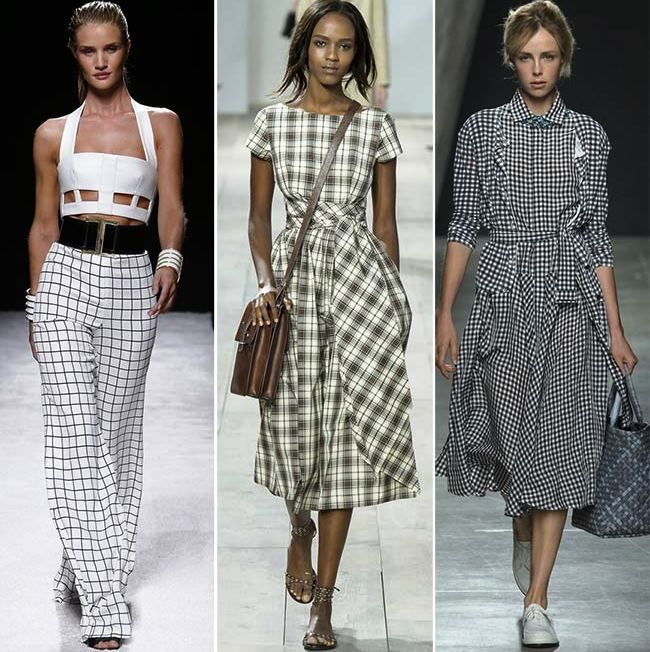 Модные тенденции (тренды) весна / лето 2015: клетка