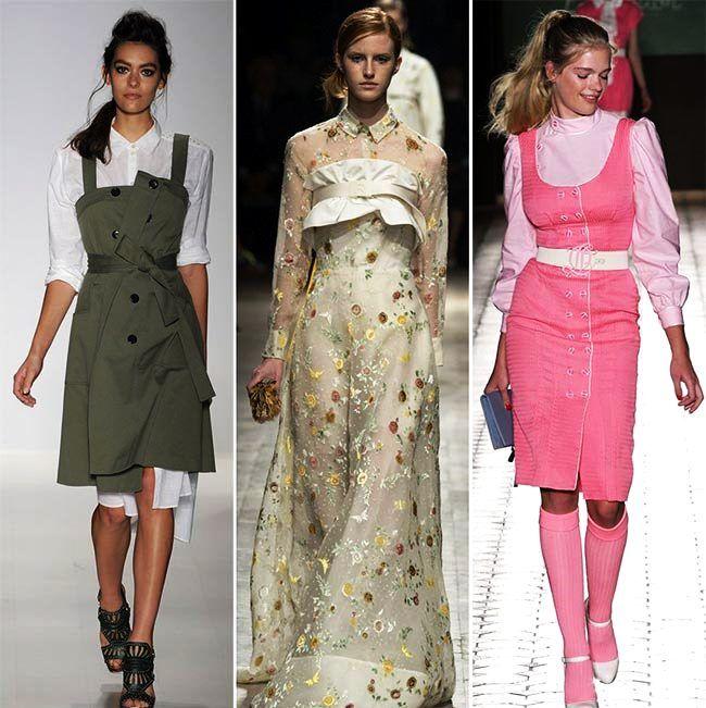Модные тенденции (тренды) весна / лето 2015: рубашки над и под платьями