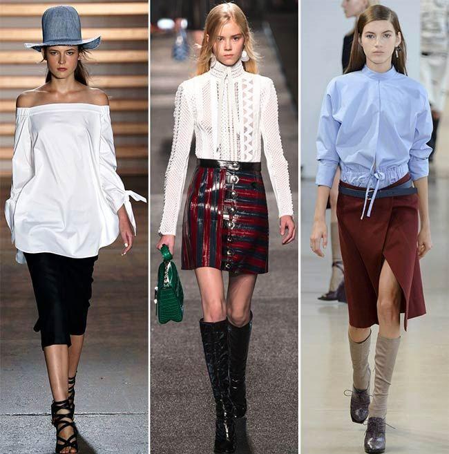 Модные тенденции (тренды) весна / лето 2015: рубашки со стильными воротниками