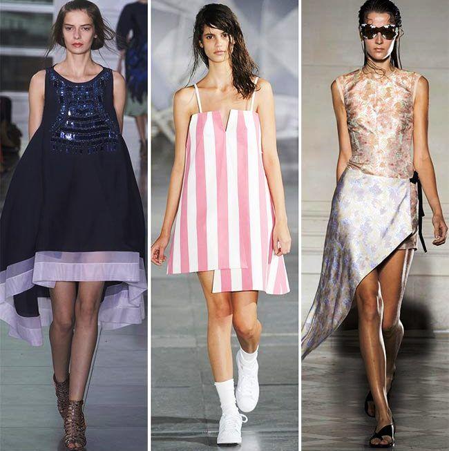 Модные тенденции (тренды) весна / лето 2015: ассиметричные формы