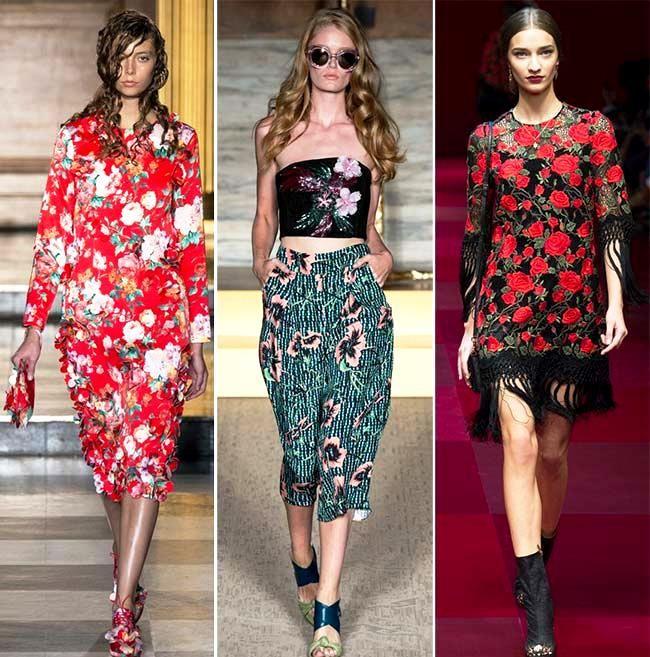Модные тенденции (тренды) весна / лето 2015: цветочные узоры