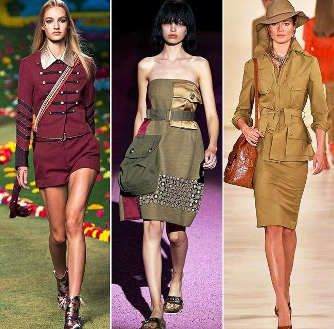 Модные тенденции (тренды) весна / лето 2015: военное вдохновение
