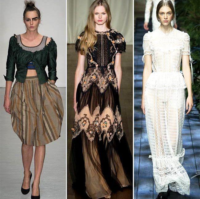 Модные тенденции (тренды) весна / лето 2015: викторианская мода