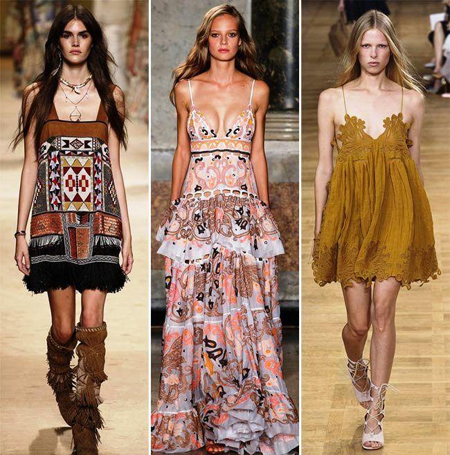Модные тенденции (тренды) весна / лето 2015: богемский шик
