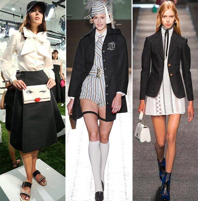 Модные тенденции (тренды) весна / лето 2015: школьный стиль