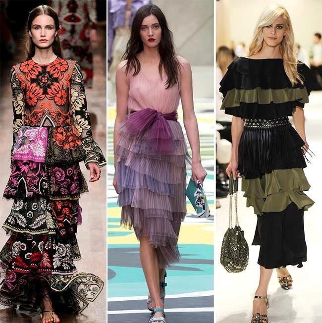 Модные тенденции (тренды) весна / лето 2015: оборки