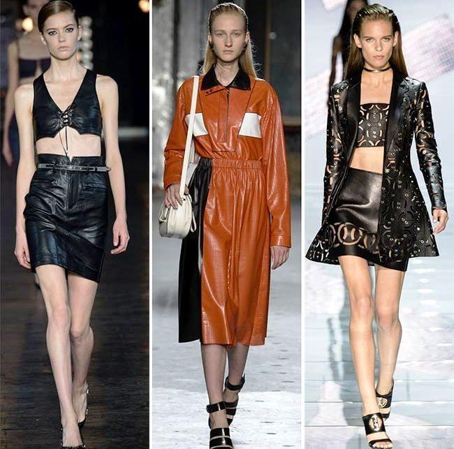 Модные тенденции (тренды) весна / лето 2015: The Rise of Leather