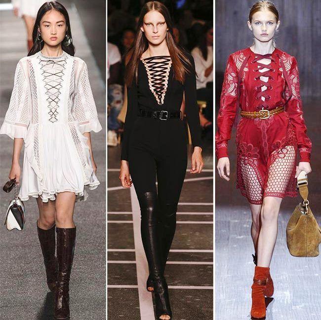 Модные тенденции (тренды) весна / лето 2015: шнуровка