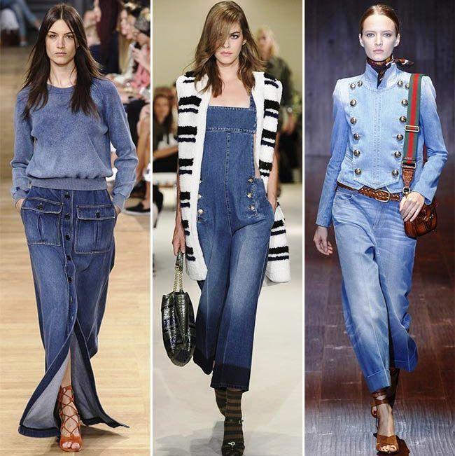 Модные тенденции (тренды) весна / лето 2015: джинсы