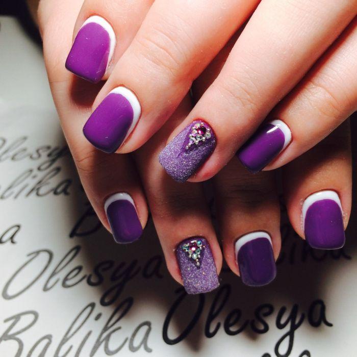 Фиолетовый маникюр, фото