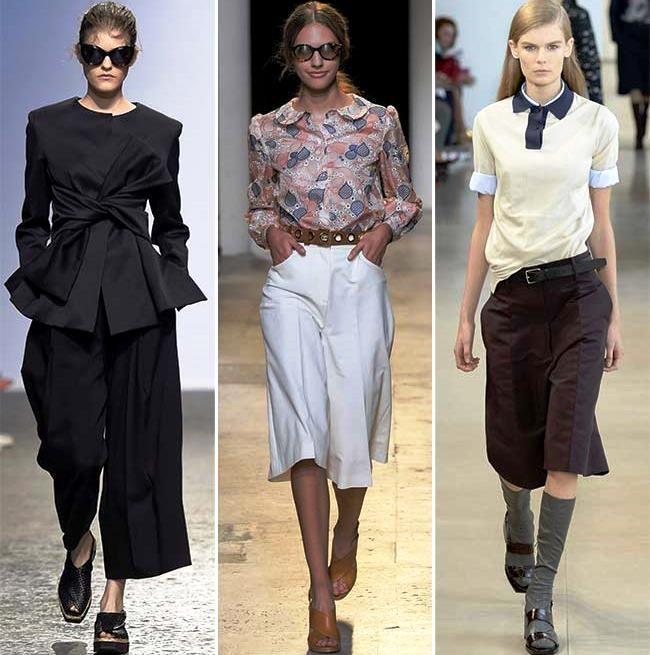 Модные тенденции (тренды) весна / лето 2015: широкие брюки и юбки-брюки