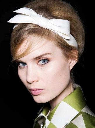 аксессуары для волос: ободки с атласным бантом