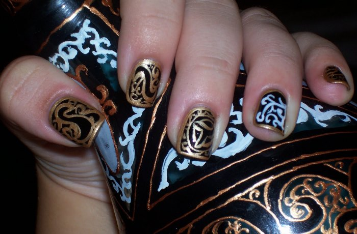 Арабский стиль в маникюре