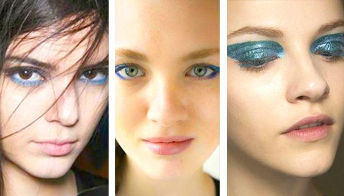 Модный макияж: голубые тени