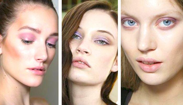 Модный макияж: сиреневые оттенки