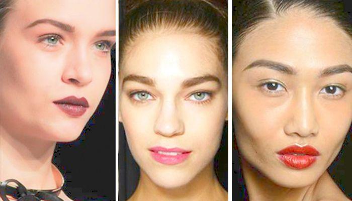 Модный макияж: губы ягодного цвета