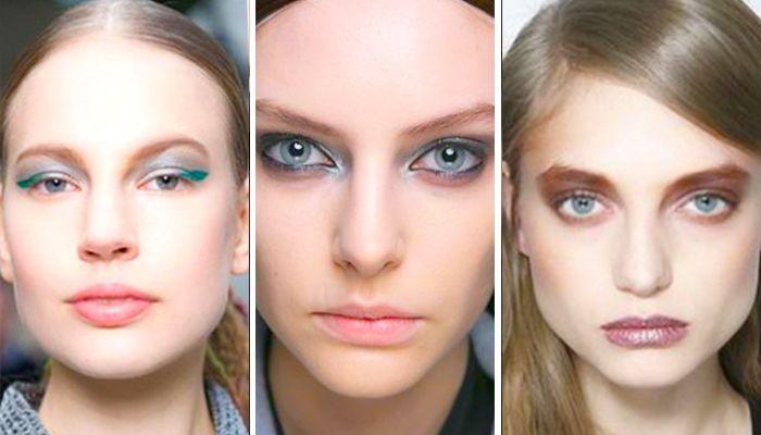 Модный макияж: холодные металлические оттенки
