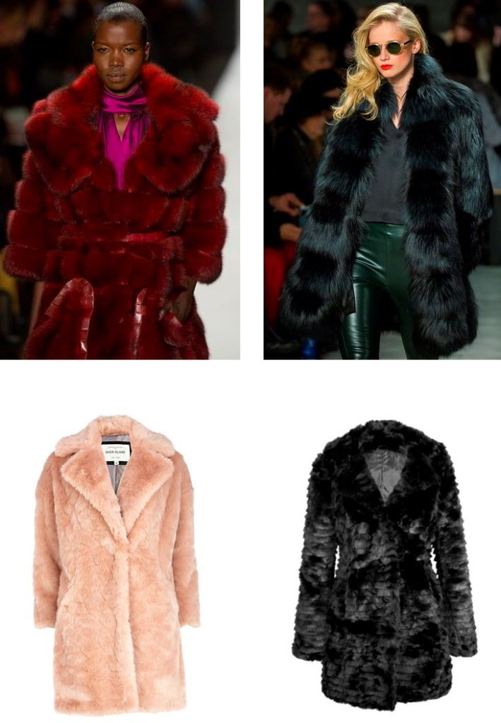 модное меховое пальто осень - зима 2015