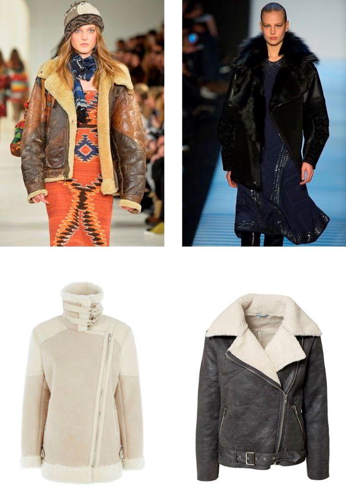 Модные дубленки осень - зима 2015