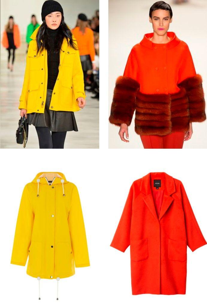 Модное яркое пальто осень - зима 2015