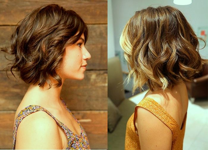 стрижки на волосы до плеч вьющиеся