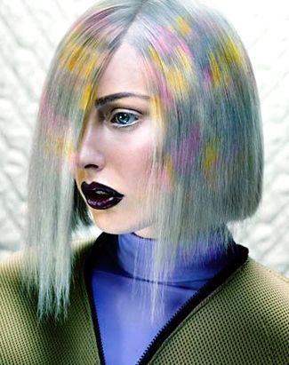 новинки окрашивания волос 2016: пиксельное окрашивание
