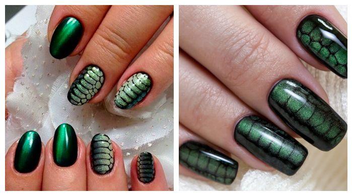 Животные принты дизайн ногтей
