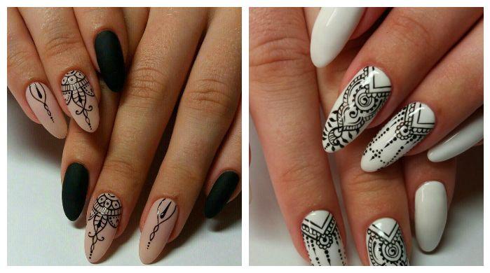 Этнические рисунки дизайн ногтей