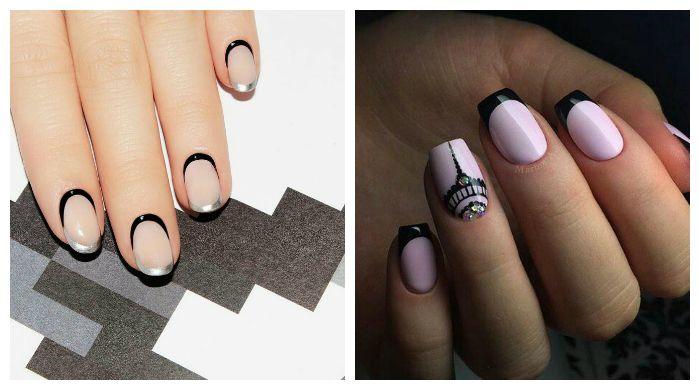 Дизайн ногтей, френч