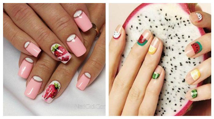 Дизайн ногтей, фрукты