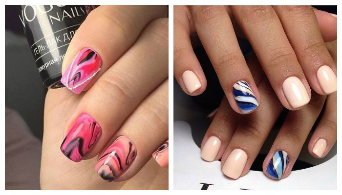Дизайн ногтей: водный маникюр